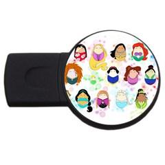 Disney Ladies Usb Flash Drive Round (2 Gb)  by lauraslovelies