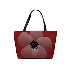 Pretty Sheer Flower Red By Lucy   Classic Shoulder Handbag   82qhtfmc9fdn   Www Artscow Com Back