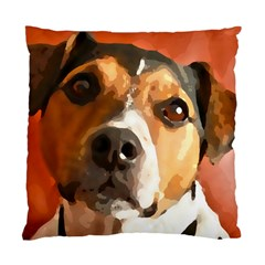 Jack Russell Terrier Standard Cushion Cases (two Sides)  by Rowdyjrt
