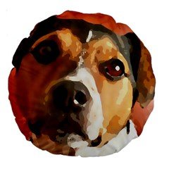 Jack Russell Terrier Large 18  Premium Round Cushions by Rowdyjrt