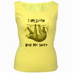 Sloth Women s Yellow Tank Tops