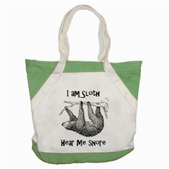Sloth Accent Tote Bag  by waywardmuse