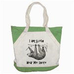 Sloth Accent Tote Bag  Front