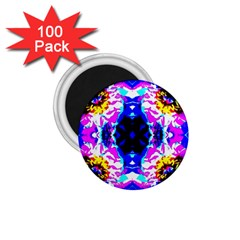 Animal Design Abstract Blue, Pink, Black 1 75  Magnets (100 Pack)  by Costasonlineshop