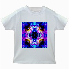 Animal Design Abstract Blue, Pink, Black Kids White T-Shirts by Costasonlineshop