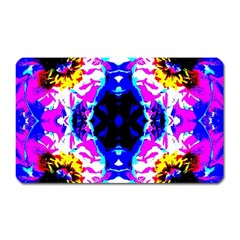 Animal Design Abstract Blue, Pink, Black Magnet (rectangular)
