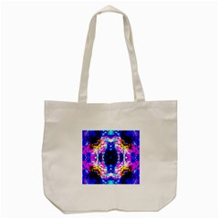 Animal Design Abstract Blue, Pink, Black Tote Bag (cream)  by Costasonlineshop