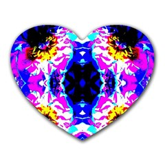 Animal Design Abstract Blue, Pink, Black Heart Mousepads