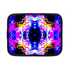 Animal Design Abstract Blue, Pink, Black Netbook Case (small)
