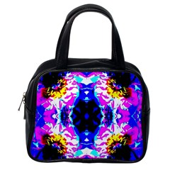 Animal Design Abstract Blue, Pink, Black Classic Handbags (one Side)