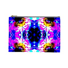 Animal Design Abstract Blue, Pink, Black Cosmetic Bag (large)  by Costasonlineshop