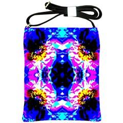 Animal Design Abstract Blue, Pink, Black Shoulder Sling Bags