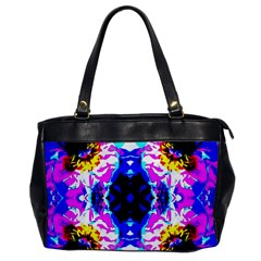 Animal Design Abstract Blue, Pink, Black Office Handbags by Costasonlineshop