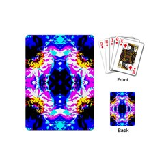 Animal Design Abstract Blue, Pink, Black Playing Cards (mini)  by Costasonlineshop