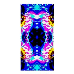 Animal Design Abstract Blue, Pink, Black Shower Curtain 36  X 72  (stall)