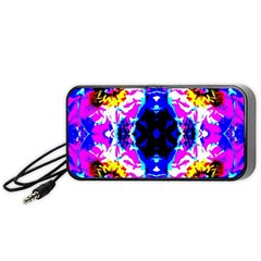 Animal Design Abstract Blue, Pink, Black Portable Speaker (black)  by Costasonlineshop