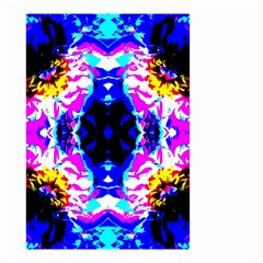 Animal Design Abstract Blue, Pink, Black Small Garden Flag (two Sides)