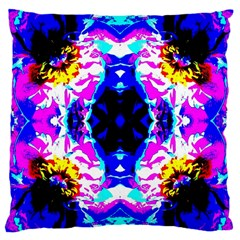 Animal Design Abstract Blue, Pink, Black Large Cushion Cases (one Side)  by Costasonlineshop