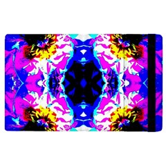 Animal Design Abstract Blue, Pink, Black Apple Ipad 3/4 Flip Case