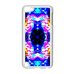 Animal Design Abstract Blue, Pink, Black Apple iPod Touch 5 Case (White) by Costasonlineshop