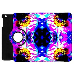 Animal Design Abstract Blue, Pink, Black Apple Ipad Mini Flip 360 Case by Costasonlineshop