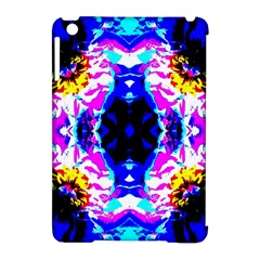 Animal Design Abstract Blue, Pink, Black Apple Ipad Mini Hardshell Case (compatible With Smart Cover) by Costasonlineshop