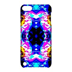 Animal Design Abstract Blue, Pink, Black Apple Ipod Touch 5 Hardshell Case With Stand