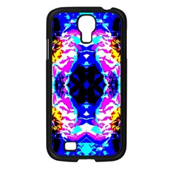 Animal Design Abstract Blue, Pink, Black Samsung Galaxy S4 I9500/ I9505 Case (black) by Costasonlineshop