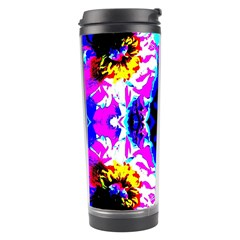 Animal Design Abstract Blue, Pink, Black Travel Tumblers