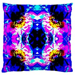 Animal Design Abstract Blue, Pink, Black Large Flano Cushion Cases (One Side)  by Costasonlineshop