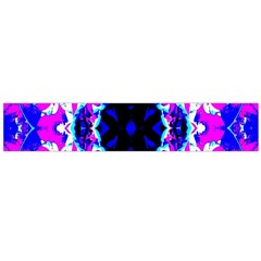 Animal Design Abstract Blue, Pink, Black Flano Scarf (large)