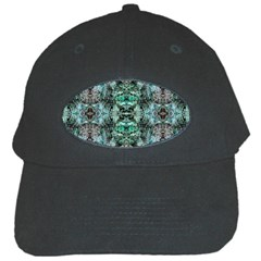 Green Black Gothic Pattern Black Cap by Costasonlineshop