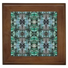 Green Black Gothic Pattern Framed Tiles by Costasonlineshop
