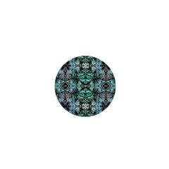 Green Black Gothic Pattern 1  Mini Buttons by Costasonlineshop