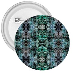 Green Black Gothic Pattern 3  Buttons by Costasonlineshop