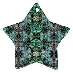 Green Black Gothic Pattern Ornament (star)