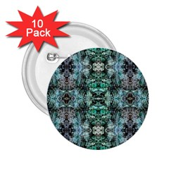 Green Black Gothic Pattern 2.25  Buttons (10 pack)  by Costasonlineshop