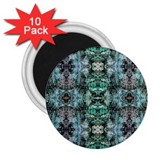 Green Black Gothic Pattern 2 25  Magnets (10 Pack)  by Costasonlineshop