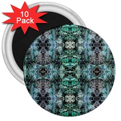 Green Black Gothic Pattern 3  Magnets (10 pack)  by Costasonlineshop