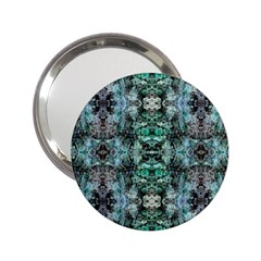 Green Black Gothic Pattern 2.25  Handbag Mirrors by Costasonlineshop