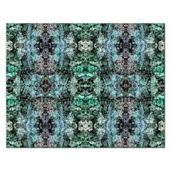 Green Black Gothic Pattern Rectangular Jigsaw Puzzl by Costasonlineshop