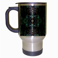 Green Black Gothic Pattern Travel Mug (Silver Gray) by Costasonlineshop