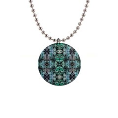 Green Black Gothic Pattern Button Necklaces by Costasonlineshop
