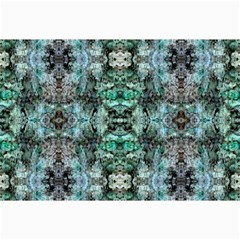 Green Black Gothic Pattern Collage 12  X 18  by Costasonlineshop