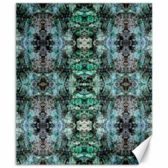 Green Black Gothic Pattern Canvas 8  x 10  by Costasonlineshop