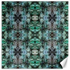 Green Black Gothic Pattern Canvas 20  X 20   by Costasonlineshop