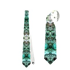 Green Black Gothic Pattern Neckties (one Side)