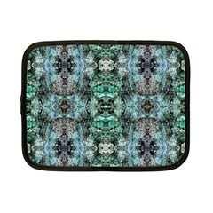 Green Black Gothic Pattern Netbook Case (small)  by Costasonlineshop