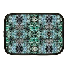 Green Black Gothic Pattern Netbook Case (medium)  by Costasonlineshop