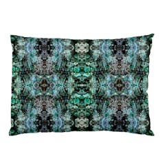 Green Black Gothic Pattern Pillow Cases by Costasonlineshop